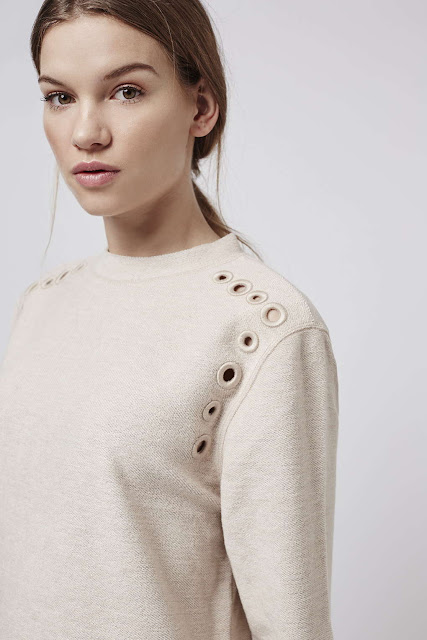 light pink hole jumper, light pink eyelet jumper, hole sweater,