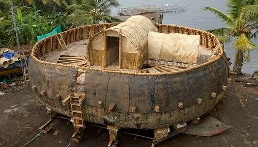 Réplica del Arca de Noé redonda según tablilla Babilonia