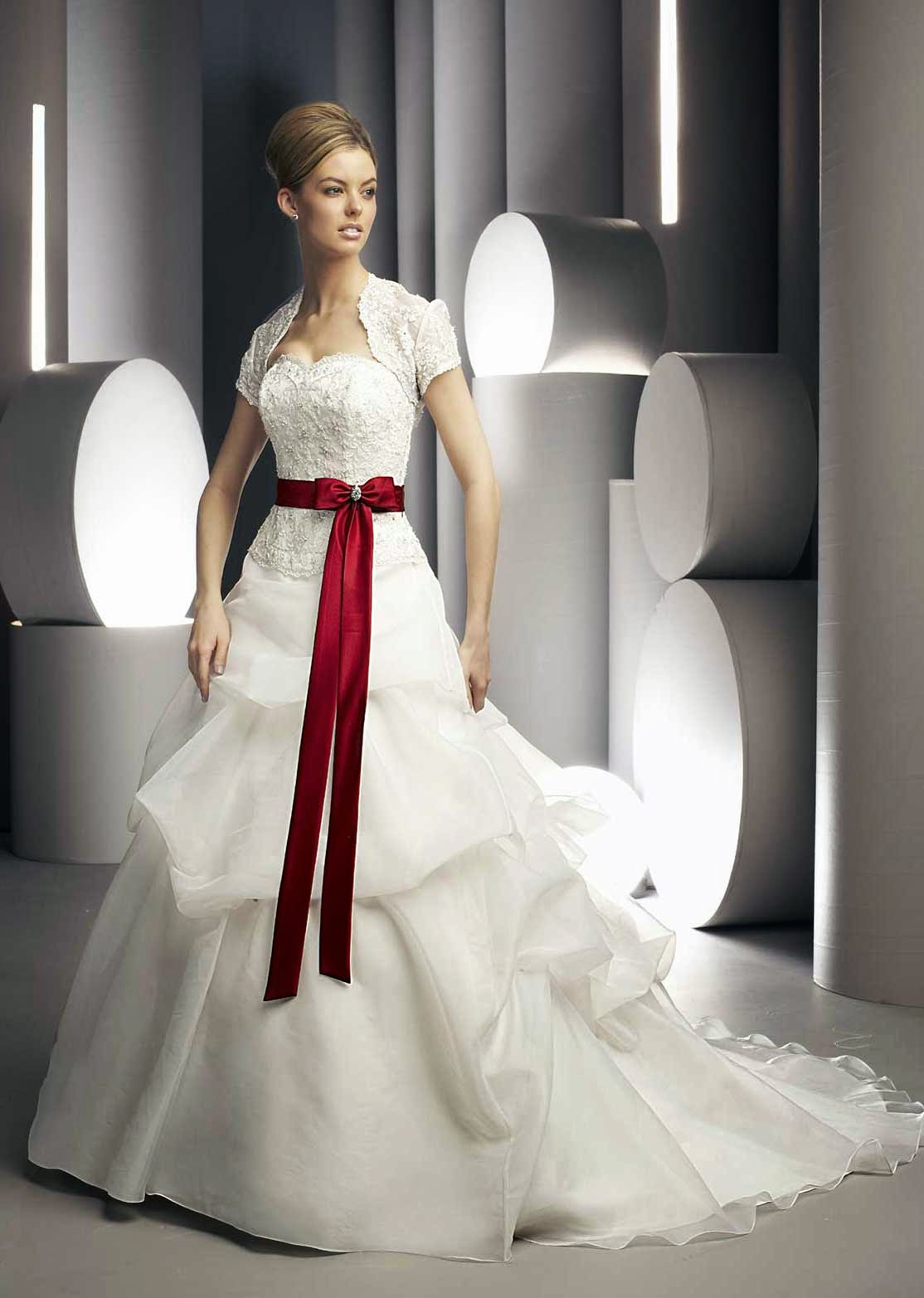 White Wedding Dresses with Red Photos HD Concepts Ideas