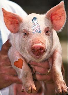 Cochon à la Wimy Delvoye