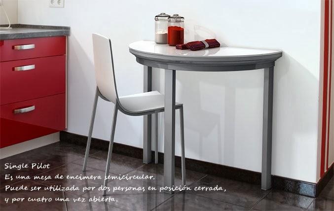 Mesas plegables o abatibles para la cocina decoraci n Mesas de cristal pequenas