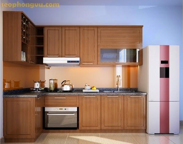 Tủ bếp xinh, tủ bếp đẹp, tu bep, tu bep sang trong