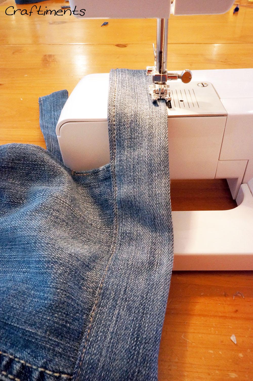 Stitch along lower edge.
