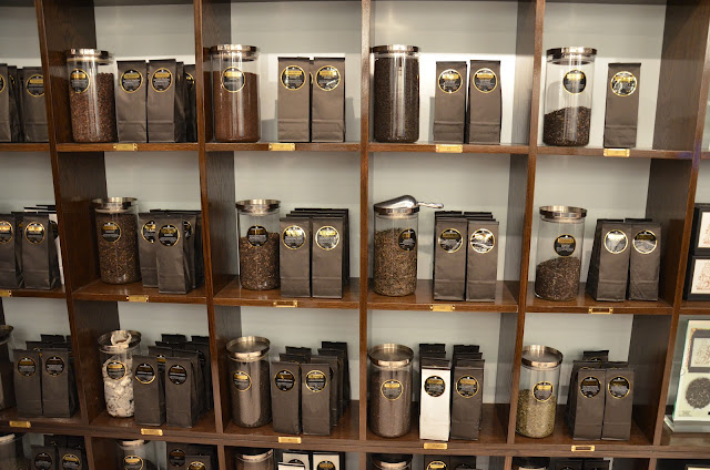 Baugh 39 s blog photo essay twinings on the strand for Coffee shop display ideas