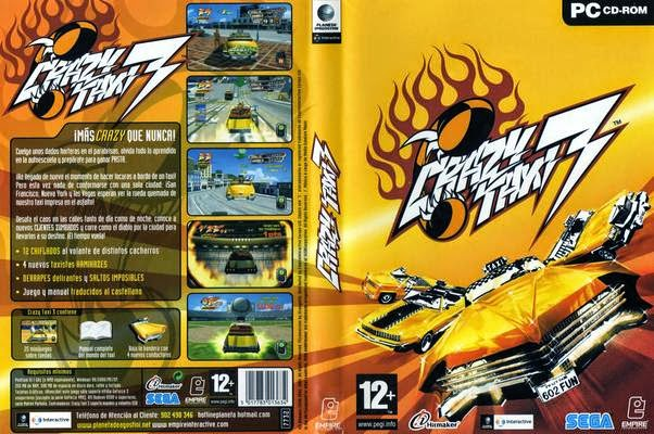Crazy Taxi 3 PC DVD Capa