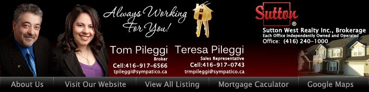Tom Pileggi Teresa Pileggi Real Estate Broker Toronto GTA North York Oakville Brampton