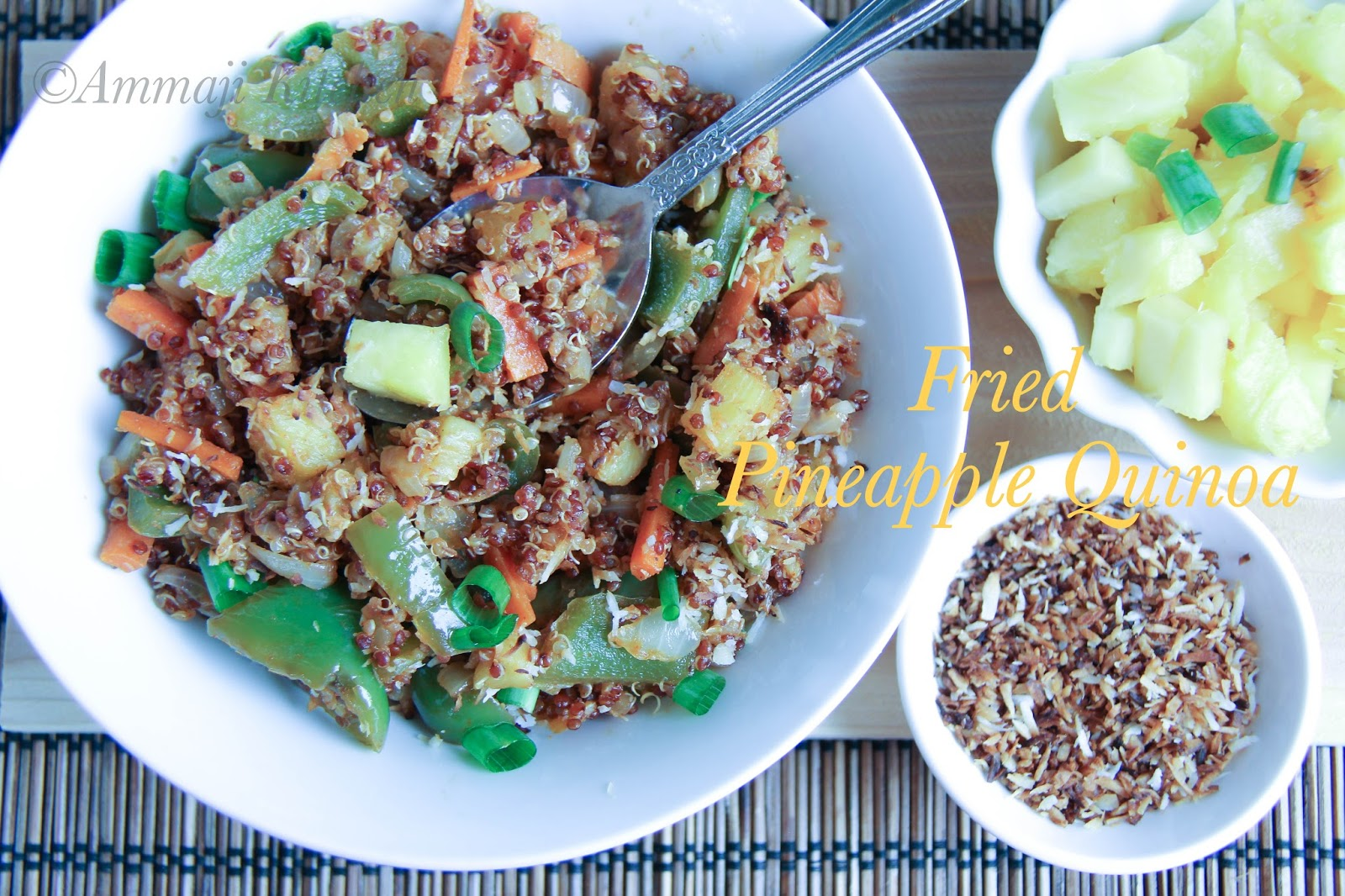 Fried Pineapple quinoa