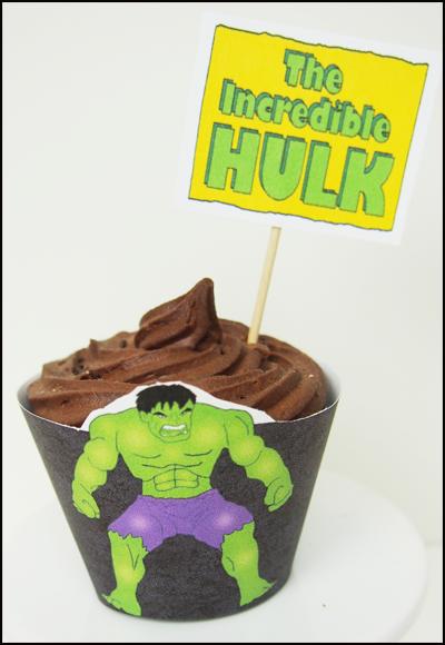 Cupcakes Hulk, parte 1