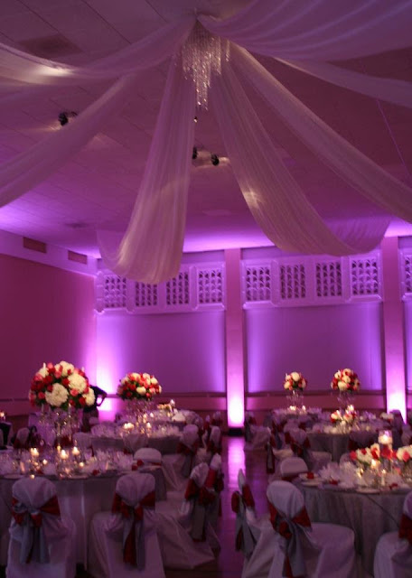 Isha Foss Events custom draping swags and candelabra arrangements