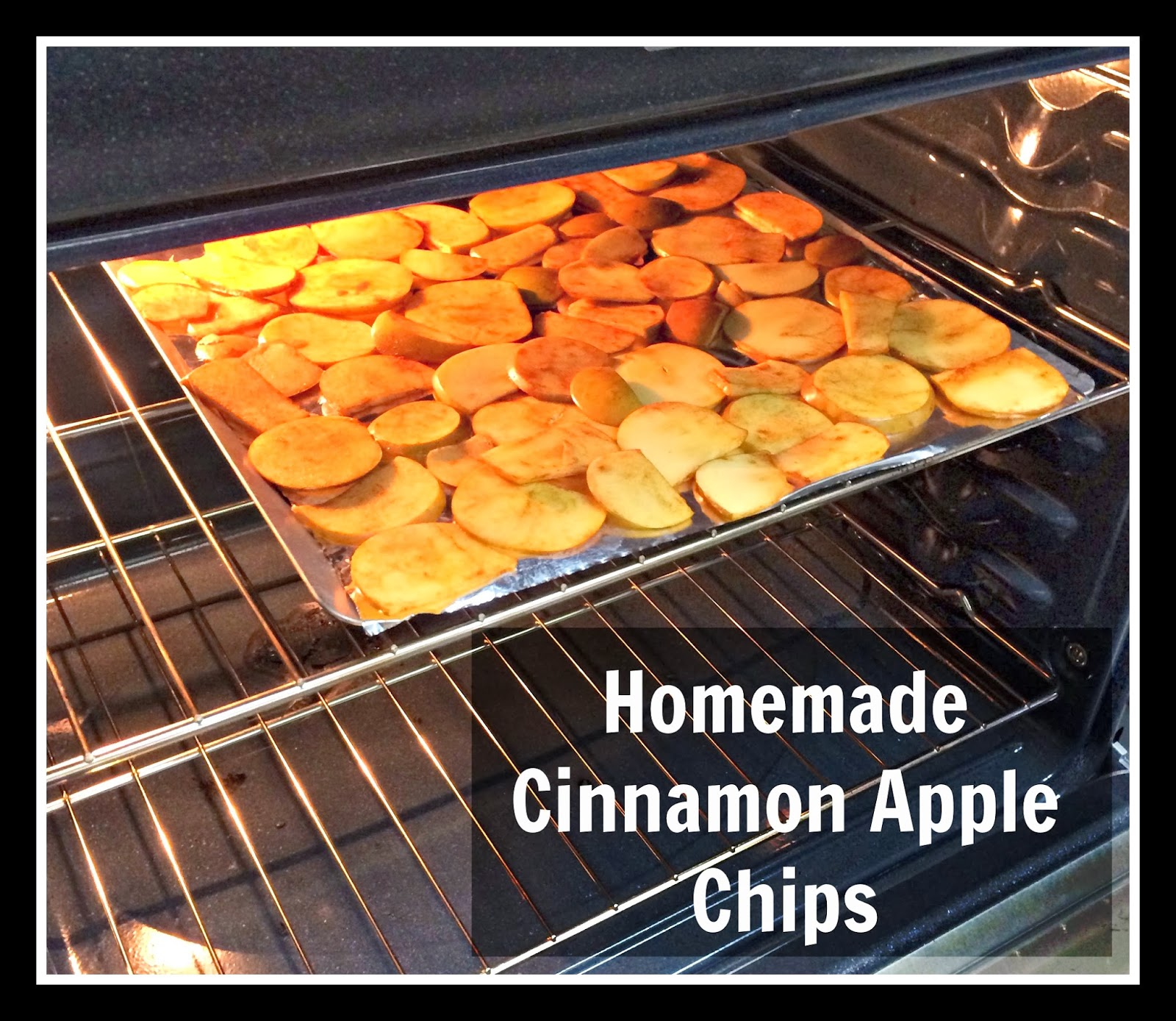 homemade cinnamon sugar apple chips