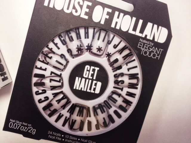 FashionFake, beauty blog, House of Holland nails, Elegant Touch nail, nail appliques, Henry Holland nails