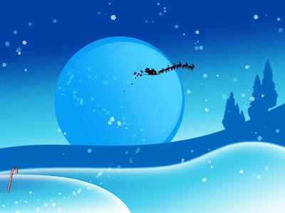 Fondo de pantalla  de Santa Claus con los renos