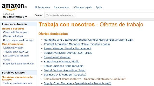 Ofertas de Trabajo en Amazon España