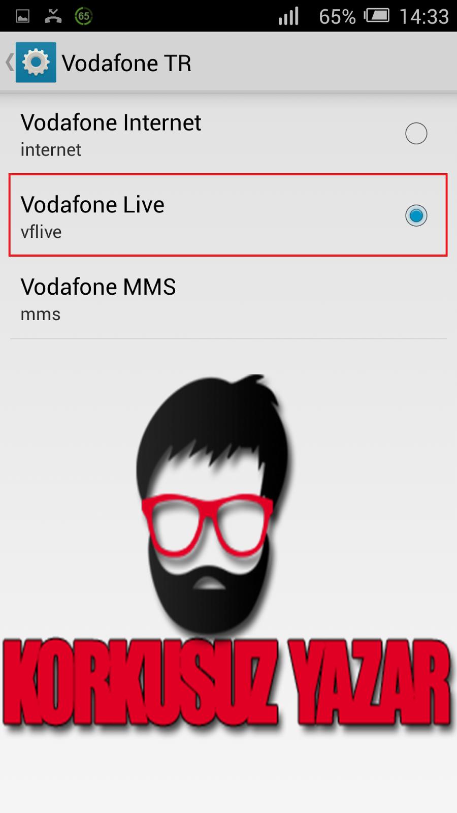Vodafone Opera ile Bedava İnternet Android apk indir