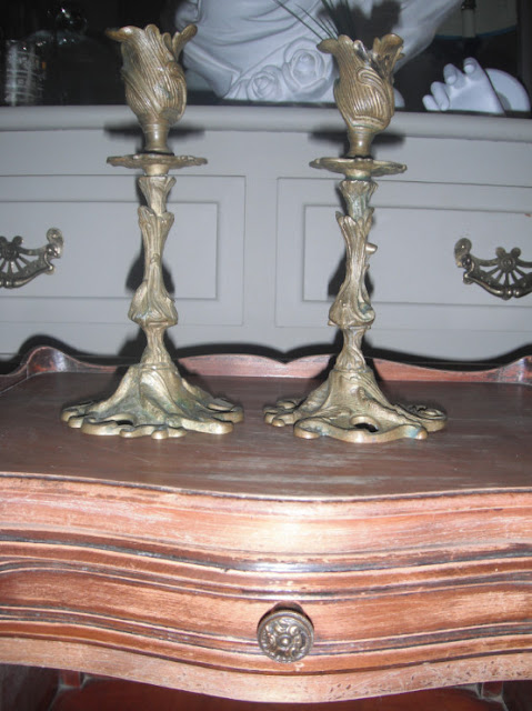 Vintage French Ornate Candlesticks