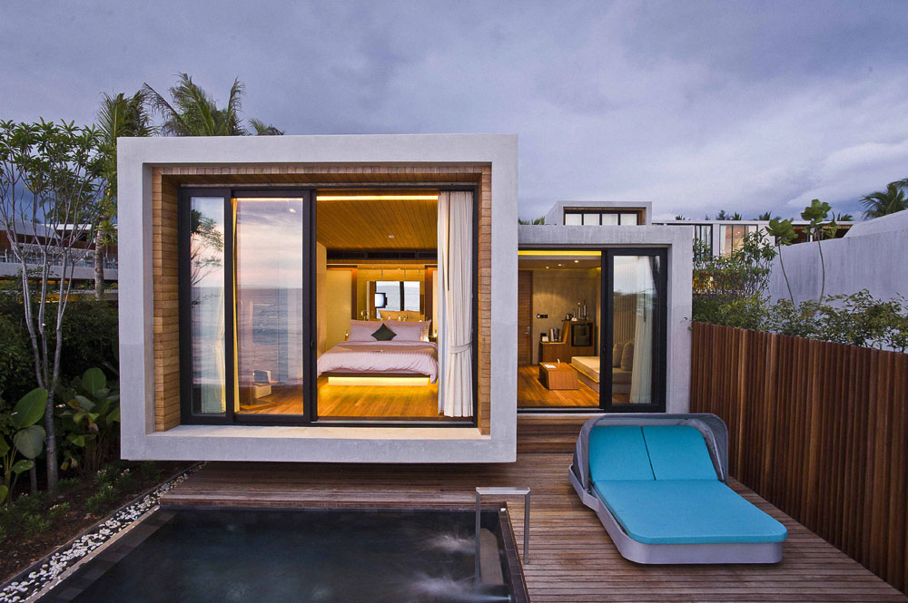World of architecture small house on the beach by vaslab for Tiny modern apartment