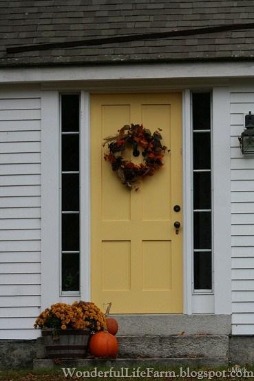 wonderful life farm autumn front doors in new england