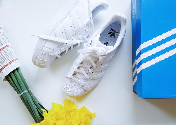 aleksandra skorupan, velvet and milk blog, adidas superstar