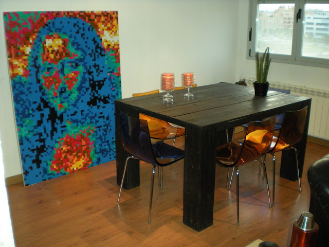 Economic creativity mesa de madera reciclada - Mesa madera reciclada ...