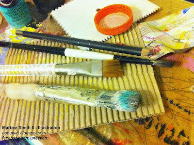 Martice's brushes and mark-making tools