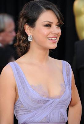 Mila Kunis Dangling Diamond Earrings