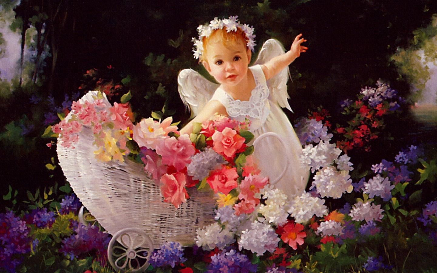 cute fairy baby iphone latest wallpapers - stylish dp's