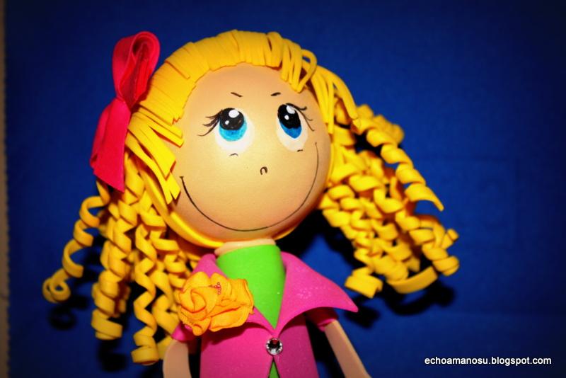 De todo manualidades: Handmade doll step by step. Muneca de foami ...