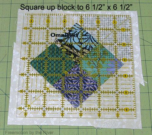 Square up the blocks