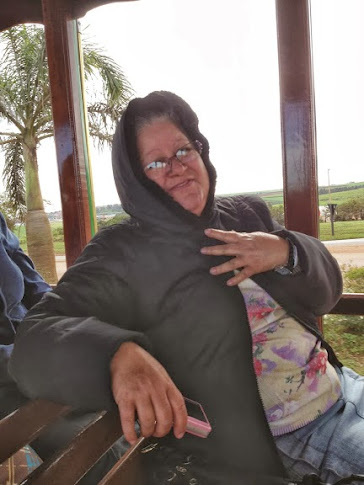 Salete no trenzinho :-) conhecendo a cidade de Barra Bonita
