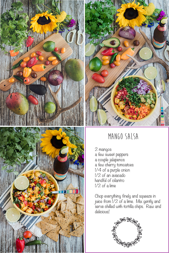 mango salsa recipe card