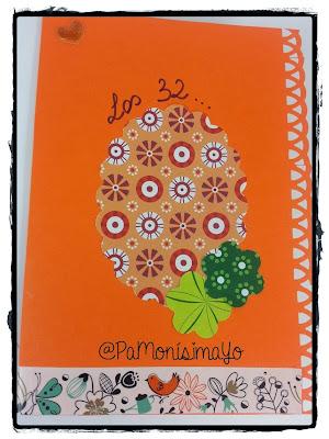 Tarjeta felicitación naranja @pamonisimayo