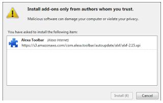 3. Cara Memasang Alexa Toolbar Pada Mozilla