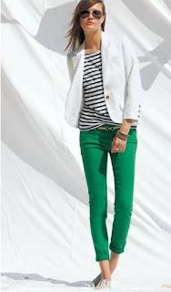 Pinterest Inspiration - Stripes & Coloured Denim