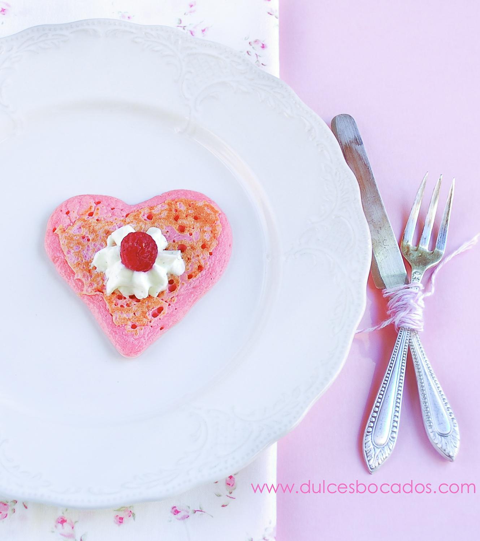 Blinis frambuesa - San Valentin - Dulces bocados