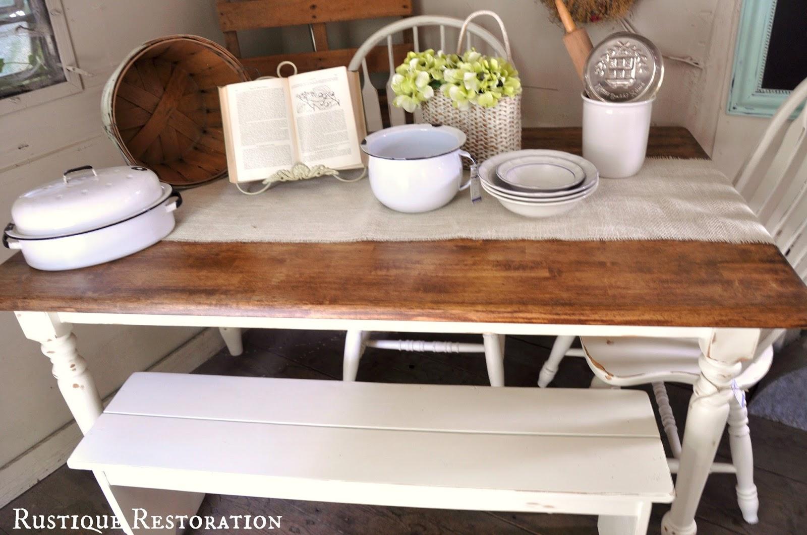 Rustique restoration farmhouse table a fall diy sneak for Farm table legs diy