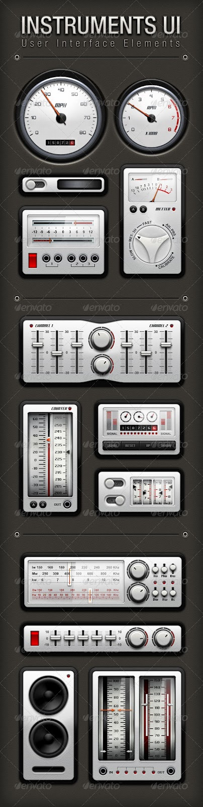 Instruments User Interface Elements