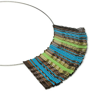 upcycled jewelry, repurposed bobby pin necklace