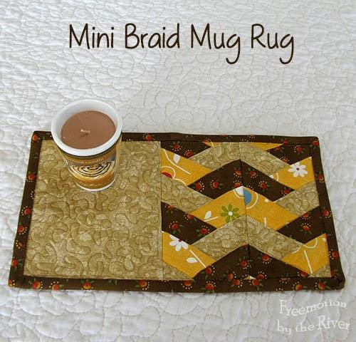 Freemotion By The River Mini Braid Mug Rug