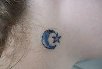 Crescent Moon and Star Tattoos