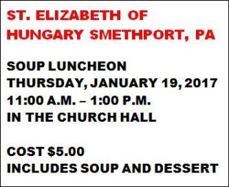 1-19 St. Elizabeth Soup Luncheon