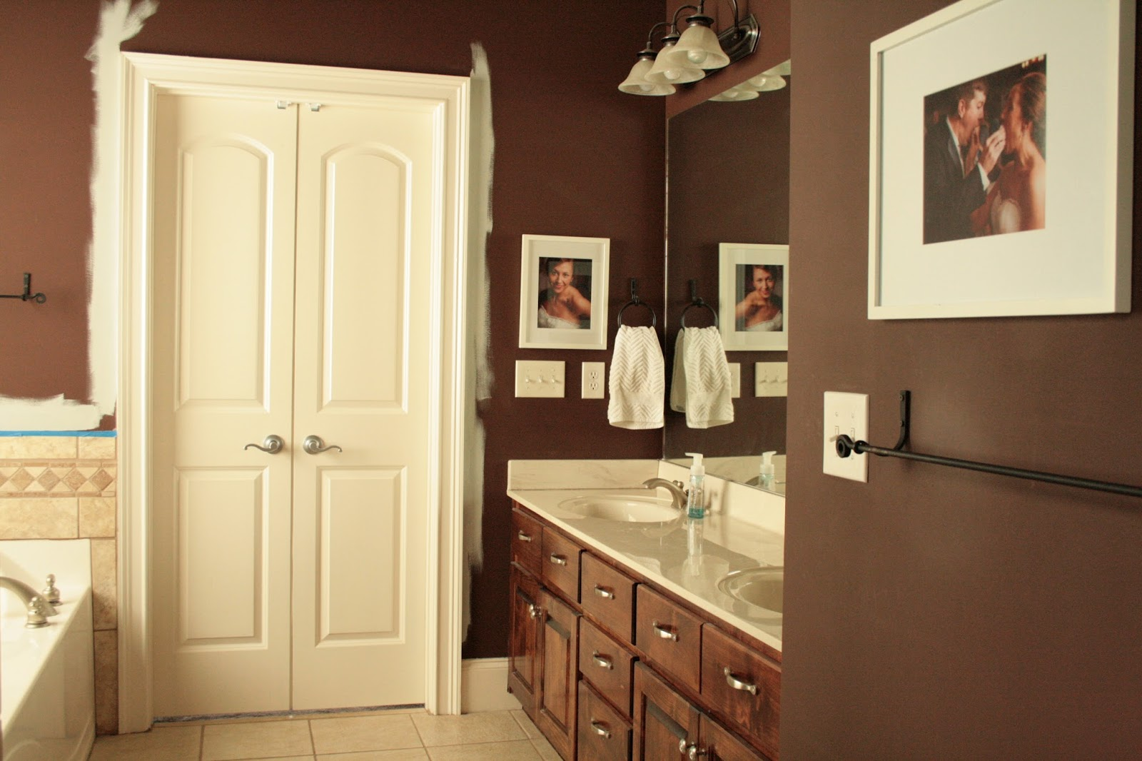 Chocolate Brown Bathroom Cabinets Chocolate Brown Cabinets Contemporary Bathroom Doryn Wallach