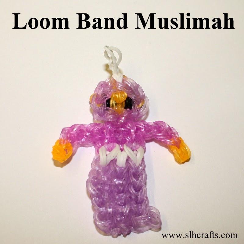 loom band doll muslimah