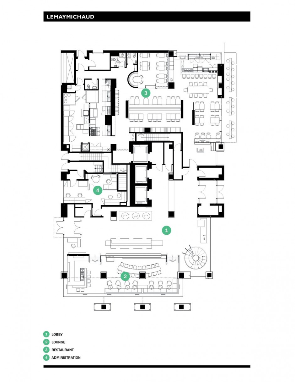 Hotel le germain calgary by lemaymichaud architecture for Hotel plan design