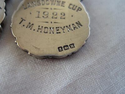 BLAIRGOWRIE GOLF CLUB MEDALS, STERLING SILVER, BIRMINGHAM 1921