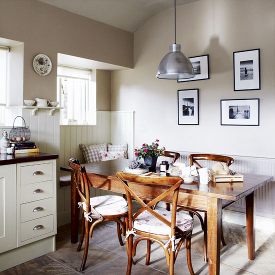 Country Kitchen Table: Modern Country Style: Gorgeous Country Kitchen And Fish