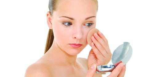 polvos compactos maquillaje manchas cara