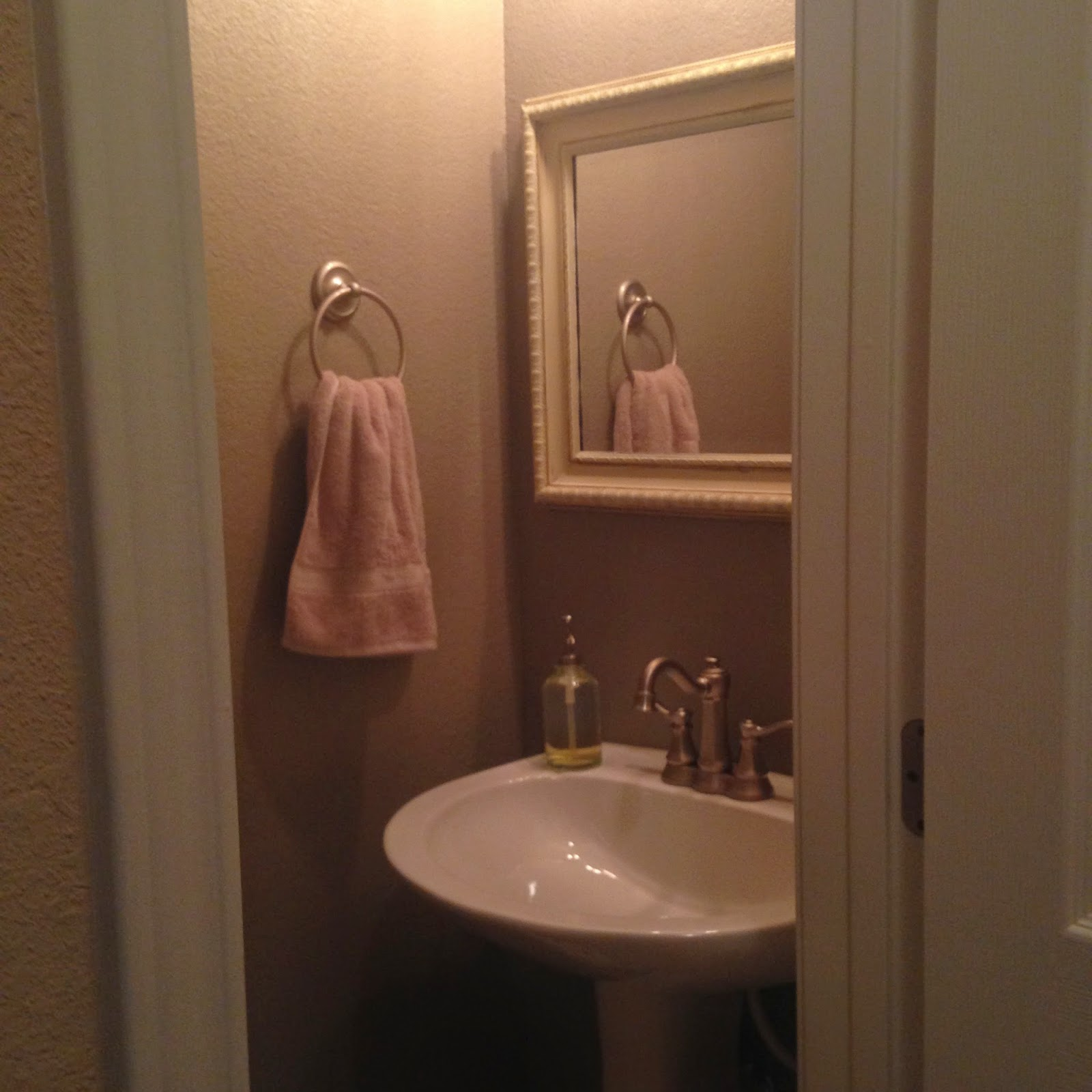 Your Little Birdie New Powder Room With Tin Ceiling