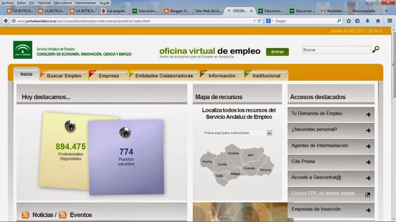 Orientacion alfonso xi orientacion profesional for Oficina virtual empleo jccm
