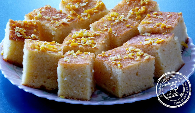 Semolina cake recipe food like amma used to make it for this recipe i have opted for oil instead of butter more semolina than flour and fresh citrus peel for the syrup and topping semolina cake is best made forumfinder Choice Image