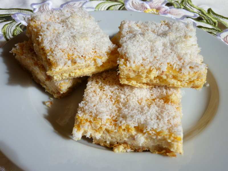 SPLENDID LOW-CARBING BY JENNIFER ELOFF: Lemon Coconut Squares (GF)